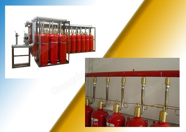 Enclosed Flooding FM200 Fire Suppression System For Multiple Rooms Control