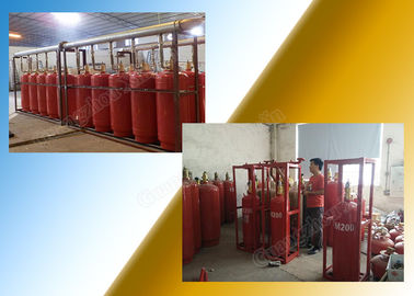 China Clean Gas Fm 200 Fire Extinguishing System Preparation For Storage Room supplier