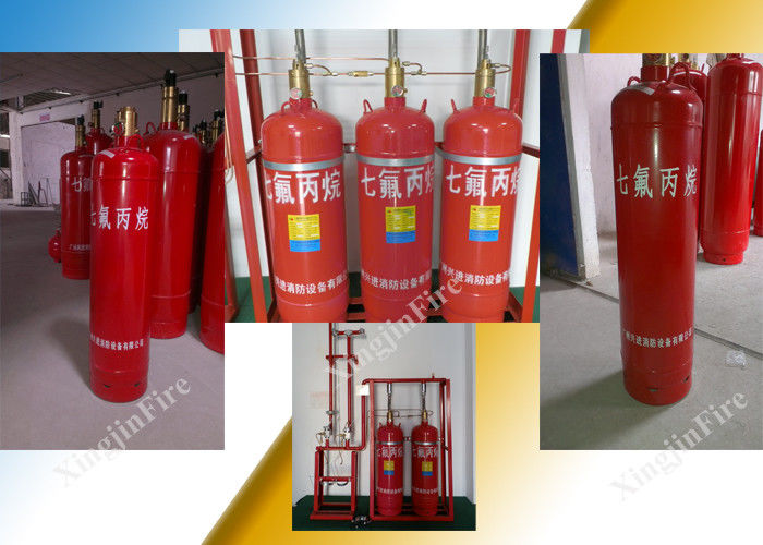 Pipe Network FM200 Fire Suppression System For Multi Zone Non Corrosive