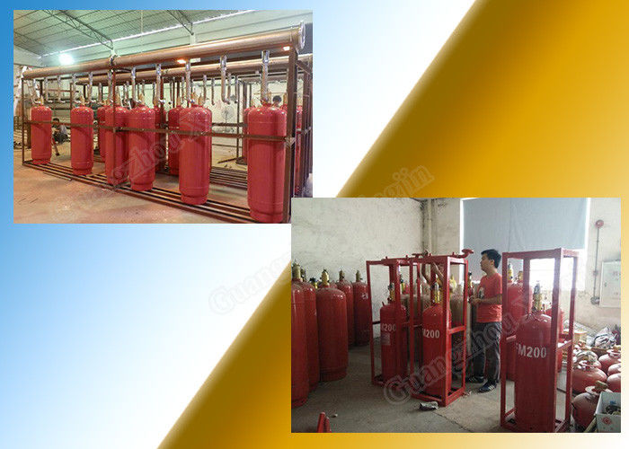China Chemical FM 200 Fire Suppression System Of 120L Type Cylinder factory
