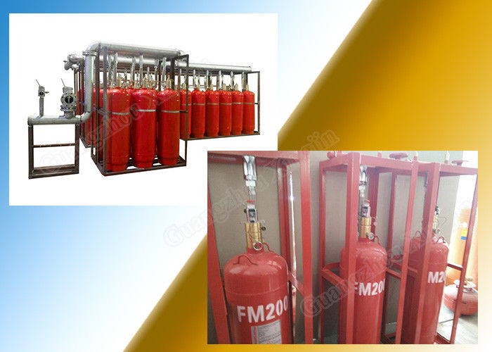 China Data Center 90L Network Fm200 Fire Suppression System with Pipeline factory