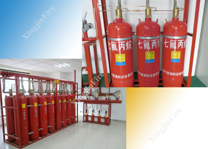 China Automatic FM200 Gas Suppression System of 70L Network Piping factory