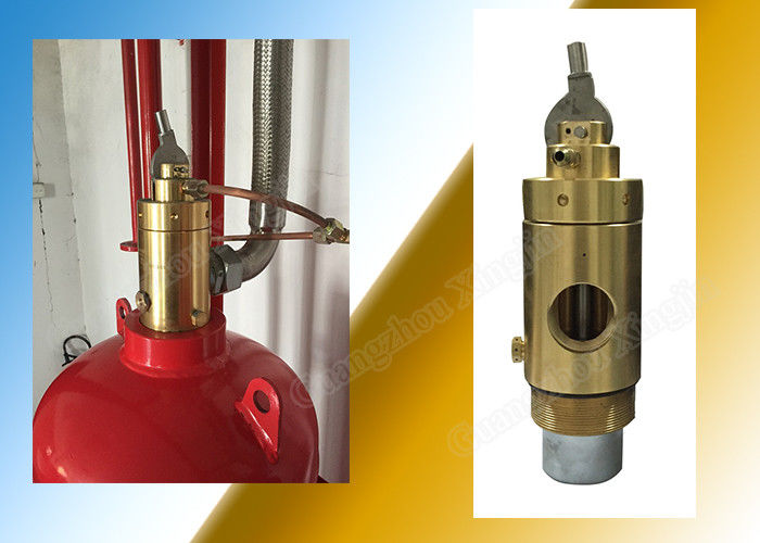Carbon Dioxide Cylinder Container Valve For Fm200 Extinguishing System supplier