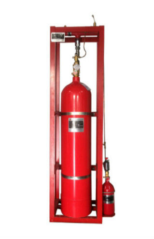 Single Zone Pipe Network FM200 Fire Suppression System For Telecommunication Rooms