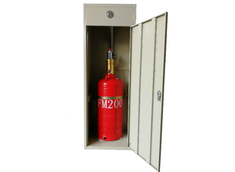 China Odorless FM200 Fire Extinguishing System /  Heptafluoropropane Fire Suppression System Cabinet Type factory