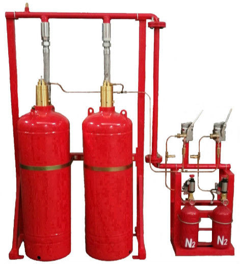 China Red Cylinder FM200 Gas Suppression System Easy And Convenient Installation factory