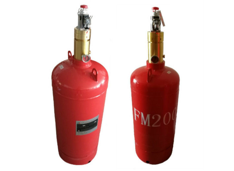 China Red Color Fm200 Gas Cylinder For 4.2 / 5.6MPa Fire Suppression System factory