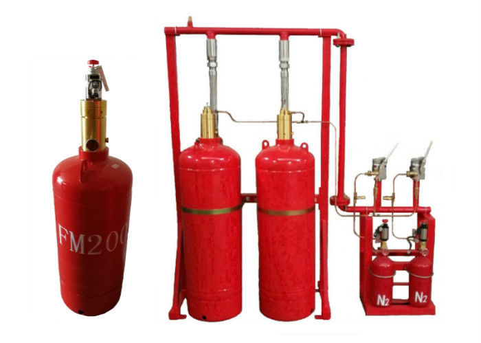 Red Color FM200 Fire Suppression System 70l , 100 , 120l Capacity